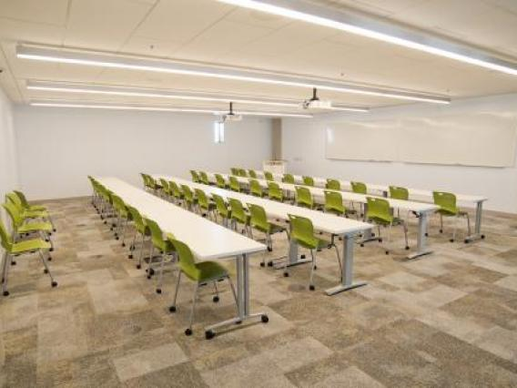 Seminar room with chairs and tables